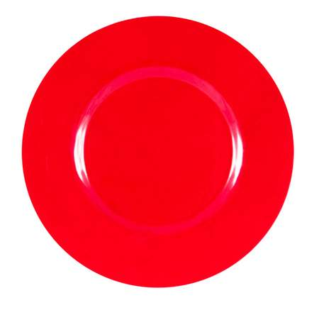 Red Glass Charger