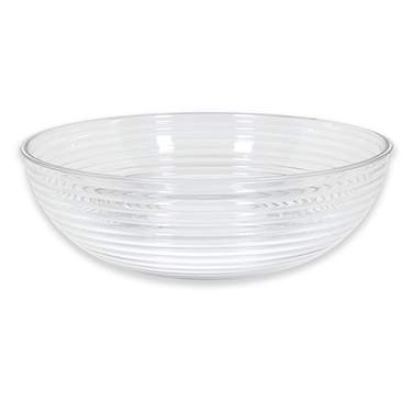 Ribbed Plastic Punch Bowl