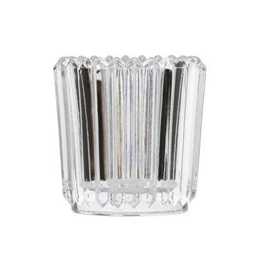 Ribbed Crystal Votive Glass