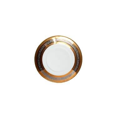 "Elegance Gold & Silver Saucer Plate 8"""