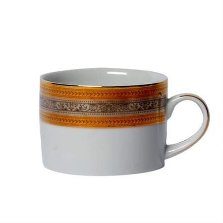 Elegance Gold & Silver Coffee Cup 9""