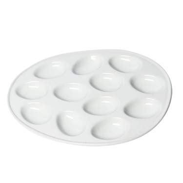 White Deviled Egg Tray