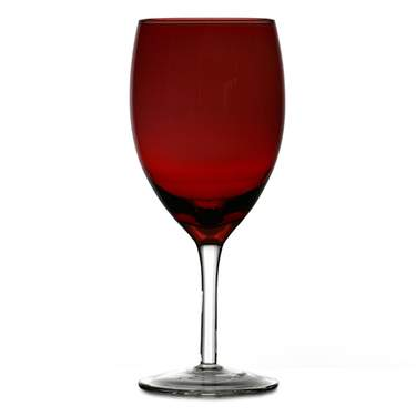 Contempo Red Iced Beverage Glass
