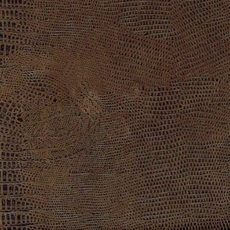 Leather Crocodile Brown