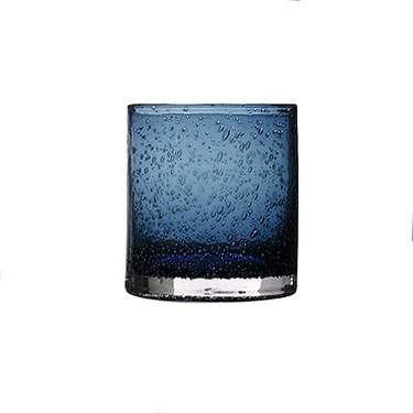 Iris Blue Double Old Fashioned Glass 14oz