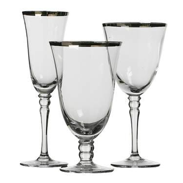 Venice Silver Glassware Pattern