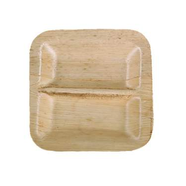 Bamboo Square Plate Divided (1200 Case)