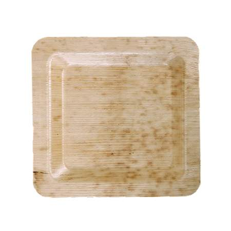 "Bamboo Square Plate 6"" (400 Case)"