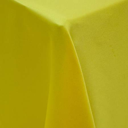 "Round Lamour Maize 120"" Linen"