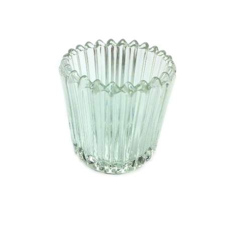 Crystal Ribbed Votive Holder