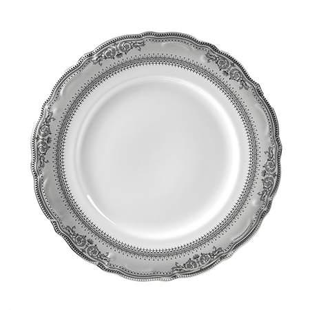 "Platinum Vanessa Luncheon Plate 9"""
