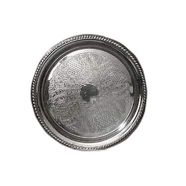 Silver Round Tray 16""