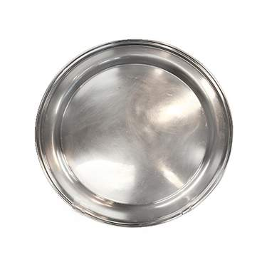 Silver Round Gallery Tray 12""