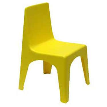 Square Plastic Yellow Back
