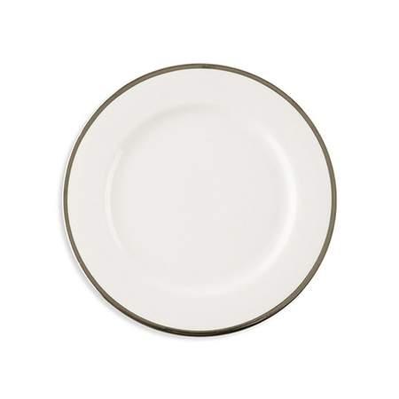 "White w/ Silver Band Salad/Dessert Plate 7.75"""