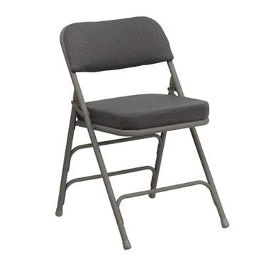 Padded Folding Chair Grey