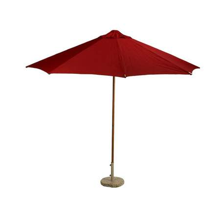 Red Market Umbrella 9'