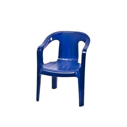Blue Plastic Children's Chair