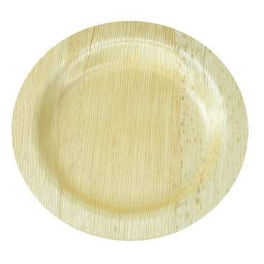 "Bamboo Round Plate 7"" (8 pack)"