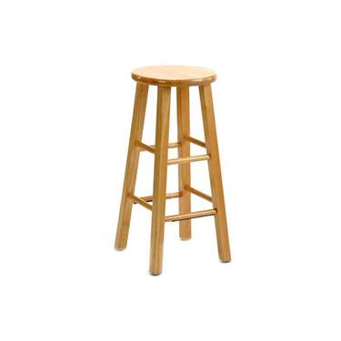 Natural Wood Barstool