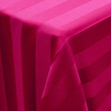 Poly Satin Stripe Raspberry