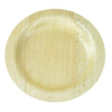 "Bamboo Round Plate 7"" (400 Case)"