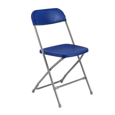 Royal/Chrome  Folding Chair