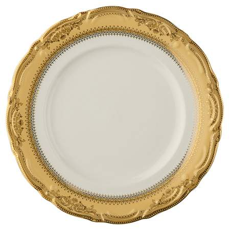 """Gold Vanessa Charger Plate 12"""""""