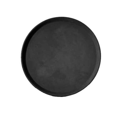 "Waiter Tray 14"" Round Black Plastic"