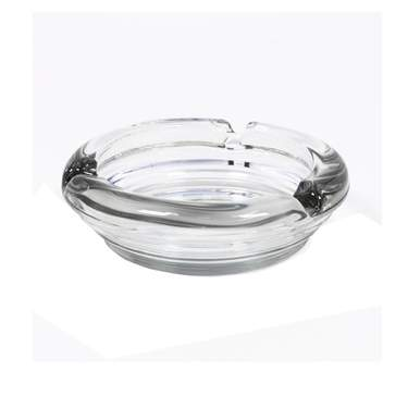Round Glass Ashtray 6""