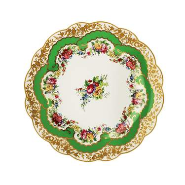 Sevres Antique Green Dinner Plate 10.75""
