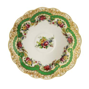 Sevres Antique Green Demitasse Saucer