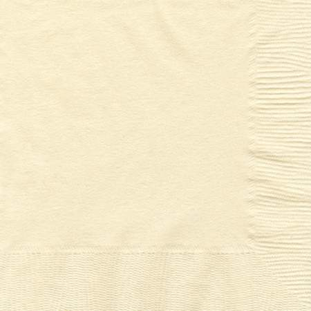 Vanilla Creme 2-Ply Cocktail Paper Napkin (125 Pack)