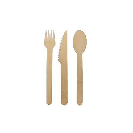 Bamboo Disposable Dinnerware Combo (100 Pack)