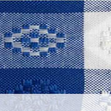 Poly Gingham Check Royal Blue & White