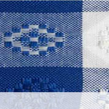 Poly Gingham Check Royal Blue & White