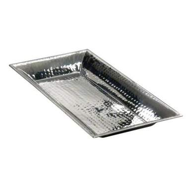 Rectangular Hammered Aluminum Tray 21""