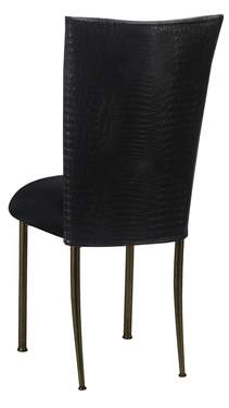 Matte Black Croc Chair Cover with Black Stretch Knit Cushion