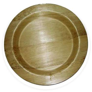 "Bamboo Round Plate 9"" (8 pack)"