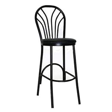 Black Barstool with Fan Back