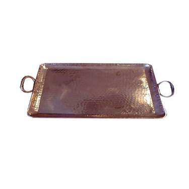 Hammered Copper Tray 22""
