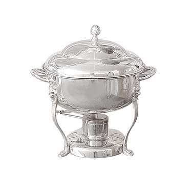 Round Silver Chafer 8qt