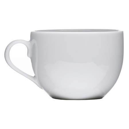 White Coupe Coffee Cup 7oz