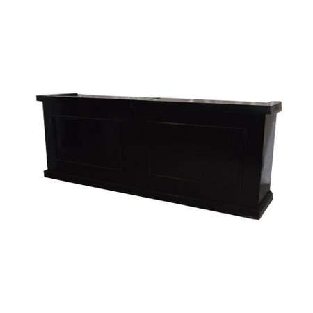 Black Wood Portable Bar 8'