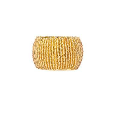 Gold Beaded Napkin Ring