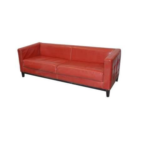 Red Leather Woodrow Sofa
