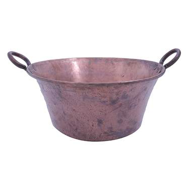 Hammered Copper Bowl w/ Handles 18""