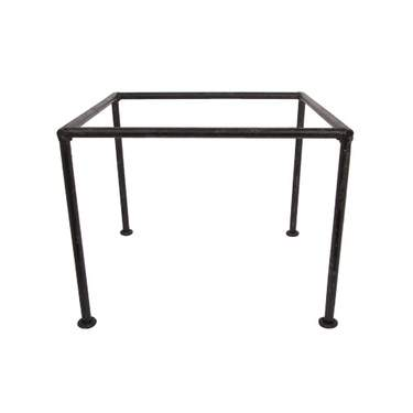 "Square Tray Iron Stand 10""H"