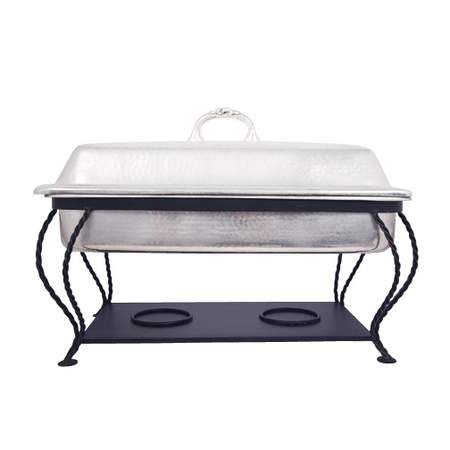 Hammered Chafer w/ Iron Frame 8qt