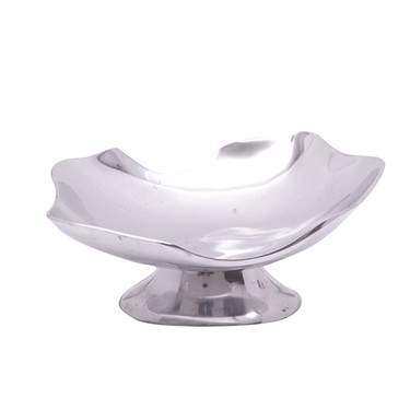 "Trieste Pedestal Aluminum Bowl 14"" x 12"""